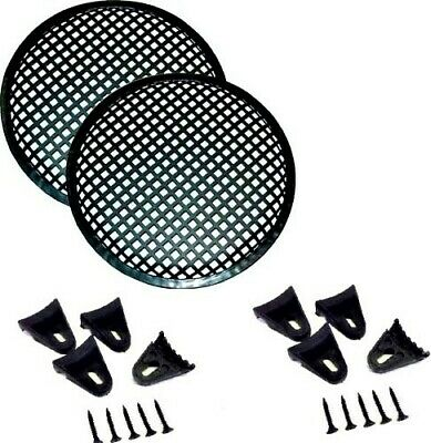5 INCH Steel Speaker SUB SUBWOOFER Grill MESH Cover W//Clips Screws GR-5 2