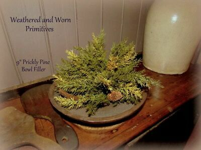 """Primitive Country Variegated Prickly Pine 9"""" Christmas Bowl Filler"""