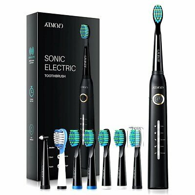 Oral Care Ultra Sonic Electric Toothbrush 5 Cleaning Mode Recharge 6 Brush Head