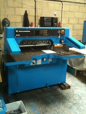 Wohlenberg 76cm digital guillotine installed with training polar perfecta