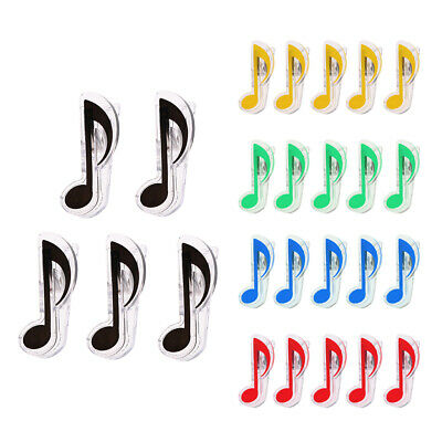 Plastic Music Sheet Book Page Food Bag Clips Student Stationery 5PCS