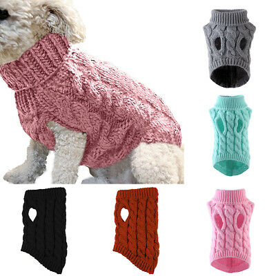 Cute Knitted Dog Jumper Pet Clothes Sweater For Small To Medium Dogs 7 Colors