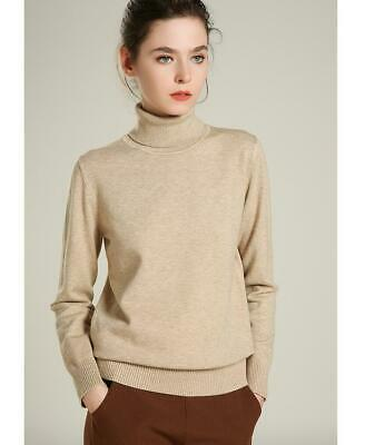 Women's  Cashmere Sweater Turtleneck High-end Female Knitted  Basic Pullover