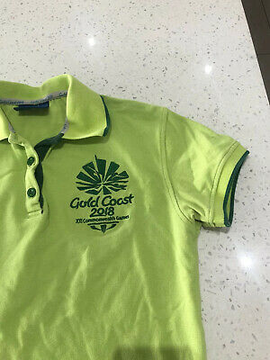 Gold Coast Commonwealth Games 2018 Green Shirt   Workers   Women's Size 10