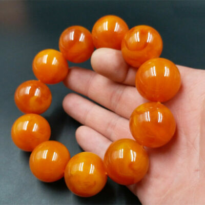 Best selling natural Baltic Amber Bracelet beautiful old beeswax Ball Bracelet