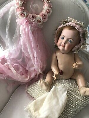 Beautiful Jdk 237 Replica, Bisque Head & Compo Body Baby Doll 18""