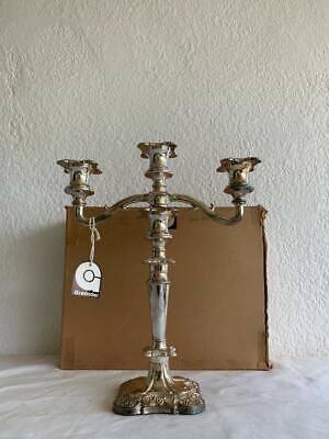 Grenadier Silver Plated Detachable 3 Light Georgian Candelabra Candle Holder