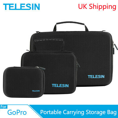 TELESIN Portable Storage Bag Camera Carrying Case For GoPro XiaoYi Osmo Action