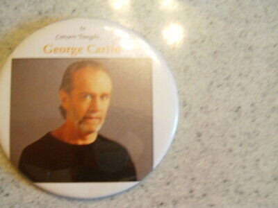 rare george carlin concert show promo button pin comedy act collectable