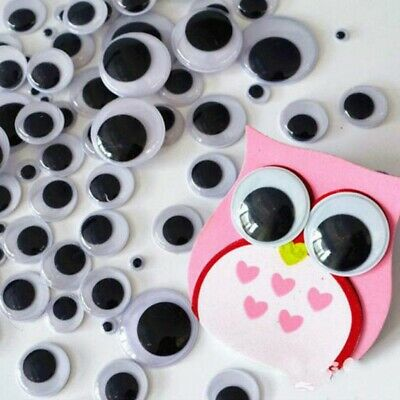 100Pcs Wiggle Eyes Portable Funny Sturdy Adhesive Wiggle Eyes for Wall DIY Craft