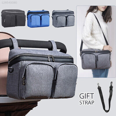 B719 Grey Infant Diaper Bag Mother Outdoor Shopping Travel Hanging Carriage