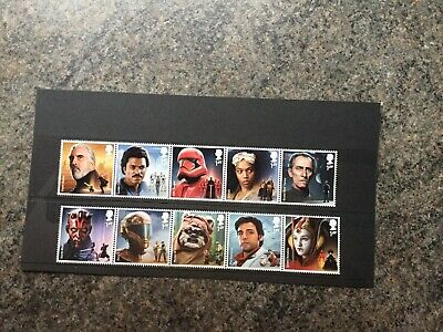 Great Britain 2019 Star Wars Set Of 10 Singles Unmounted Mint,Mnh