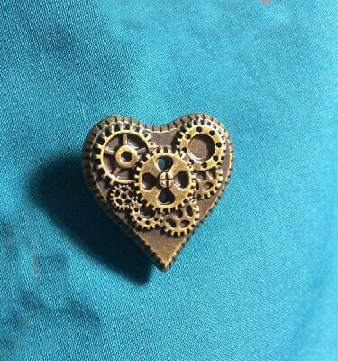 Cute Steampunk HEART with GEARS Holey Clog Shoe Charm Charms