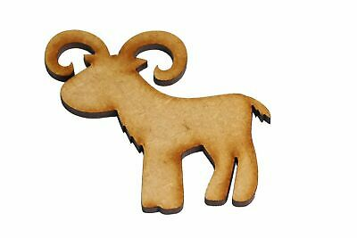 Wooden MDF Farm Animal Mountain Goat Shapes Bunting Craft Cartoon Embellishments