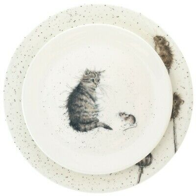 Royal Worcester Wrendale Cat and Mouse Dinner and Salad Plate - NEW UNUSED