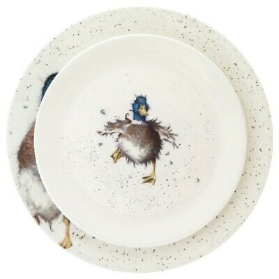 Royal Worcester Wrendale Duck Dinner and Salad Plate - NEW UNUSED