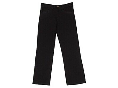 Boys Attire Black Cotton Rich Slim Fit Waist Adjuster Skinny Denim Jeans.4-8yrs