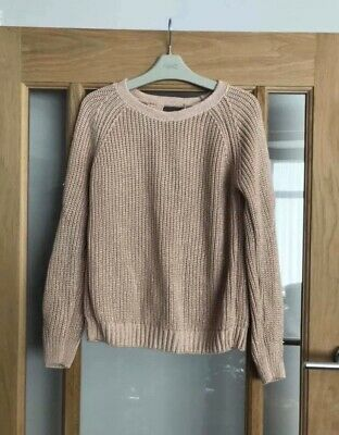 Next Girls Pink Glitter Knit Jumper Age 9 Years
