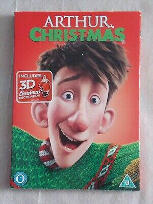 Arthur Christmas Dvd [2017] Includes 3D Decoration Brand New Factory Wrapped