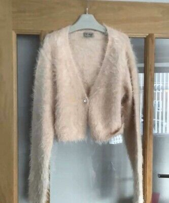 Next Girls Pink Fluffy Cardigan Age 11 Years