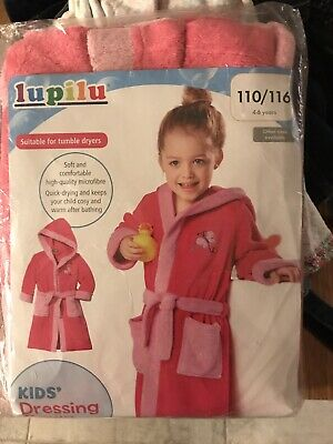 GirlsPink dressing Gown. 4-6 Years New