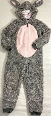 M&S Cute & Cosy Bunny All In One Lounge Wear Pink & Grey Age 5-6 Years