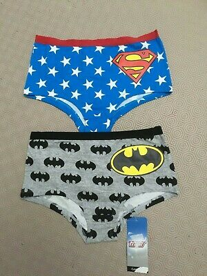 2 Pairs Girls  Briefs Shorts  Knickers From George Age 9-10 Years  Bnwt