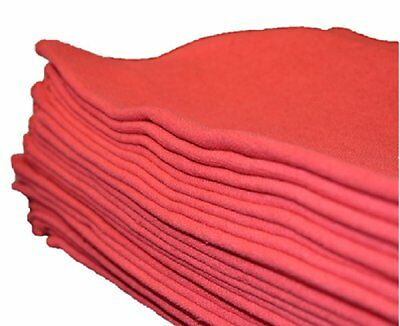 50 Pack Mechanic Auto Shop Rag Cleaning Towels Red Commercial New