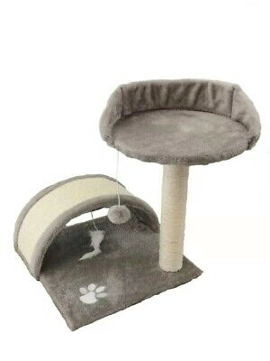 Vencier Cat Scratching Post Bed Tree Activity Centre Toys Grey Sisal Play
