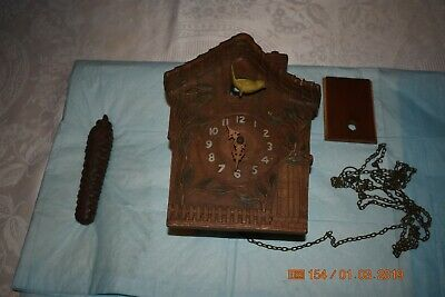 Antique cuckoo clock rare for project