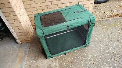 Large Soft Sided Dog Crate in carry bag used