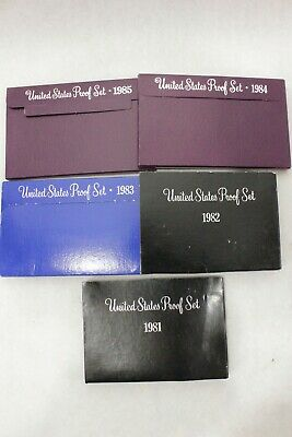 1981-1985 United States Proof Sets Instant Collection 5 US Mint Sets NICE GIFT