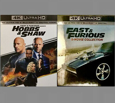 Fast & Furious 8-Movie Collection 4K Blu-ray Digital Brand NEW Read Listing