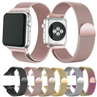 Apple Watch Series 5,4,3,2,1 Milanese Magnetic Stainless Steel Strap iWatch Band