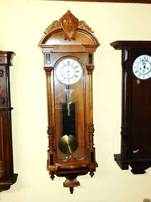 1870 - 1890 One Weight Wall Clock In A Nice Condition But Not Restored