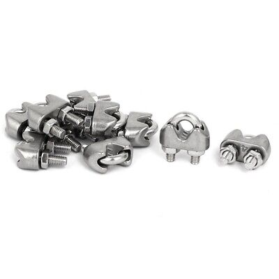 M4 5/32 Inch 304 Stainless Steel U-Shape Bolt Saddle Clamps Cable Wire Rope M1E1
