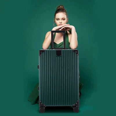 New 20'' Travel Spinner Luggage Set Bag ABS Trolley Carry On Suitcase Green