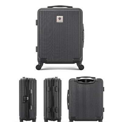Modern Deluxe 24'' Luggage Travel Bag Trolley Suitcase with 4 Wheels Black