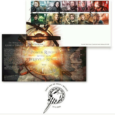 Game of Thrones ROYAL MAIL STAMP Souvenir First Day Cover Character US Seller