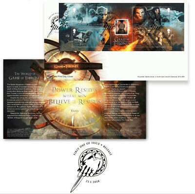 Game of Thrones ROYAL MAIL Stamp First Day Cover Souvenir  *US SELLER IN STOCK*