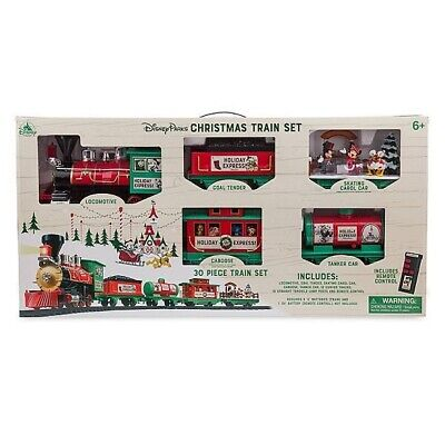 2019 Disney Parks Yuletide Farmhouse Mickey and Friends Christmas Train Set New