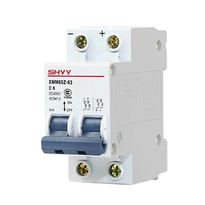 DC MCB Circuit Breaker for Solar Photovoltaic 2P-6/10/16/20/25/32/40/50/63A NEW