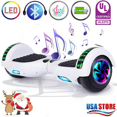 "6.5"" Hoverboard Bluetooth LED Electric Self Balancing Scooter no Bag Best Gift N"