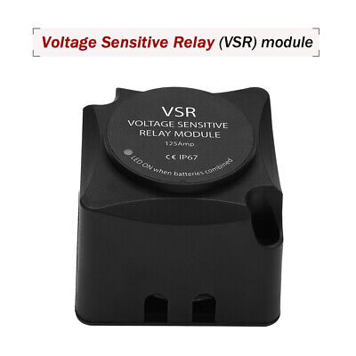 Voltage Sensitive Relay VSR Automatic Charge 12volt 125A Dual Battery Isolator