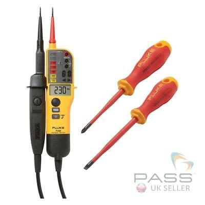 *Exclusive* Fluke T130 Two-Pole Voltage Tester & FREE IPHS1 & ISLS8 Screwdrivers