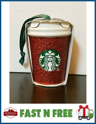 Starbucks 2019 - GLITTER RED - Holiday Christmas Ornament