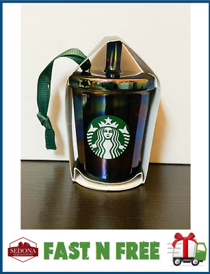 Starbucks 2019 - IRIDESCENT / OIL SLICK BLACK - Holiday Christmas Ornament