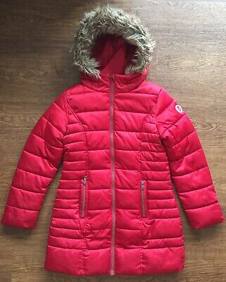 Next Red Long Padded Winter Jacket Size 10 Years