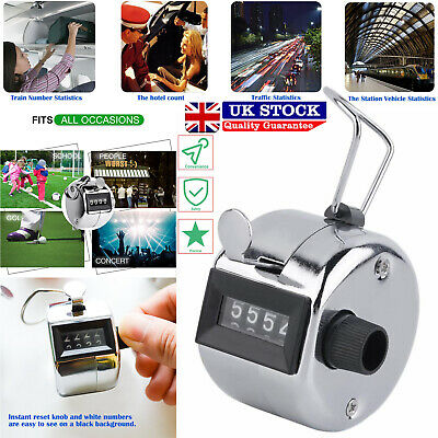Useful Tally Counter Hand Clicker 4 Digit Mechanical Manual Palm People Counting