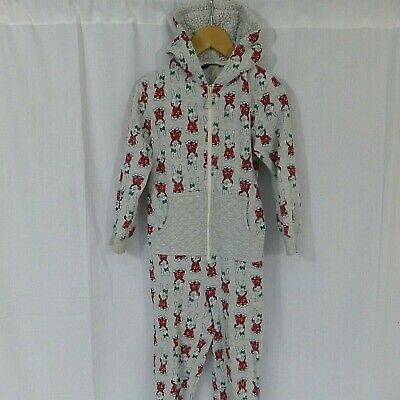 Girl George Christmas bunny winter 1onsie, PJ's pyjamas age 5-6 years